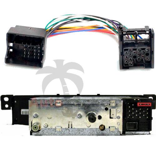 radio adapter cable for bmw e39 x5 e53 e38 e46 mini new on. Black Bedroom Furniture Sets. Home Design Ideas