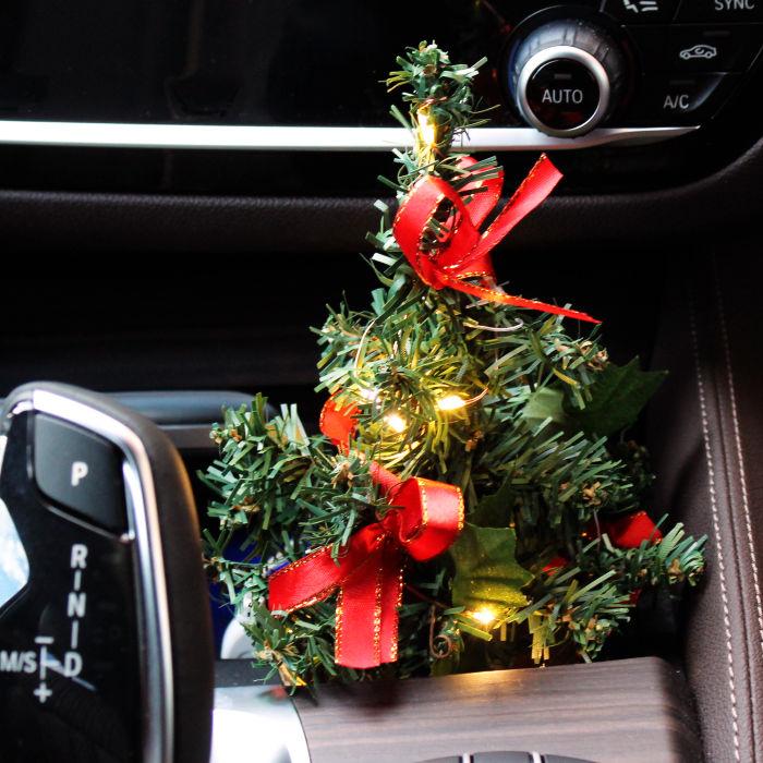 Auto Weihnachtsbaum Christbaum Leuchtbaum Mit Led Lichterkette Kfz
