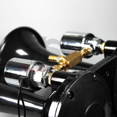 2 klang druckluftfanfare fanfare ice nebel horn hupe. Black Bedroom Furniture Sets. Home Design Ideas